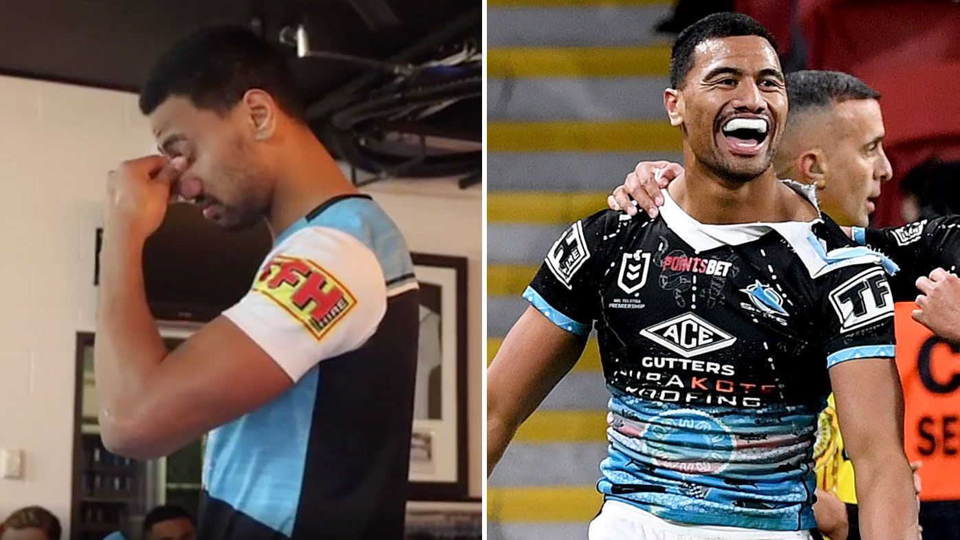 EXCLUSIVE: Sharks winger breaks down telling harrowing story about his charity