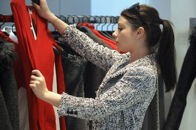 Michelle Trachtenberg spotted shopping in New York City.