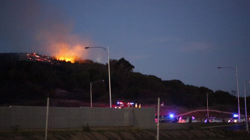 Daniel Crawford is accused of deliberately lighting the five fires. (9NEWS)