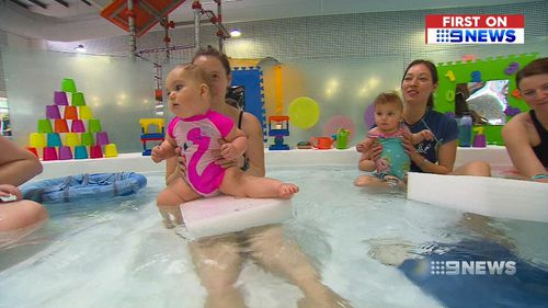 Adelaide babies and toddlers are the first in the nation to experience a new water program, designed to kick-start their development by stimulating their senses.