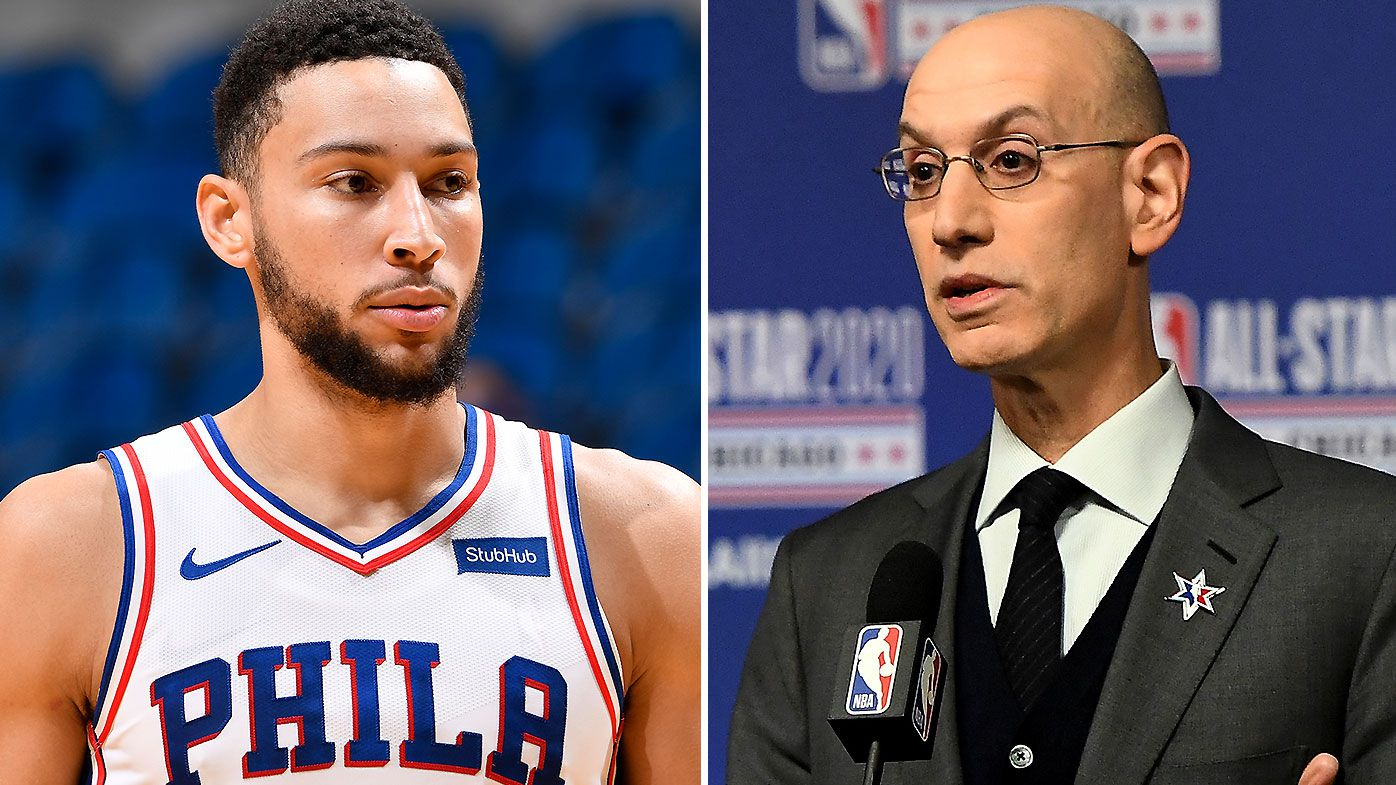 Ben Simmons and Adam Silver