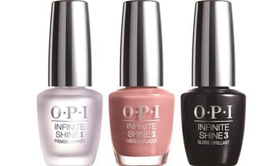 This new range from O.P.I is applied like a traditional manicure – base, colour, top – but lasts up to 10 days like an in-salon gel. Apply just before Christmas day and you'll have beautiful tips well into the new year.