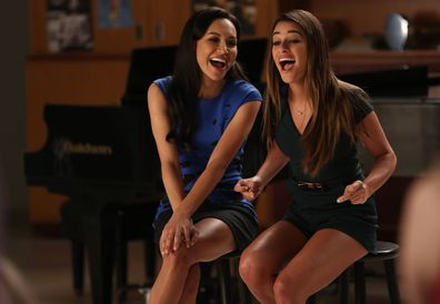 Naya Rivera, Lea Michele, Glee, 2014
