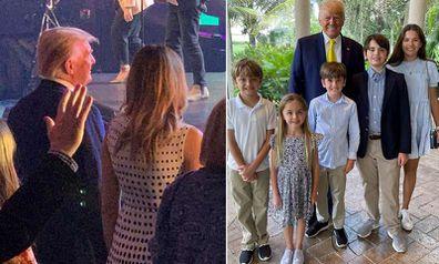 Melania Trump, Donald Trump Easter service
