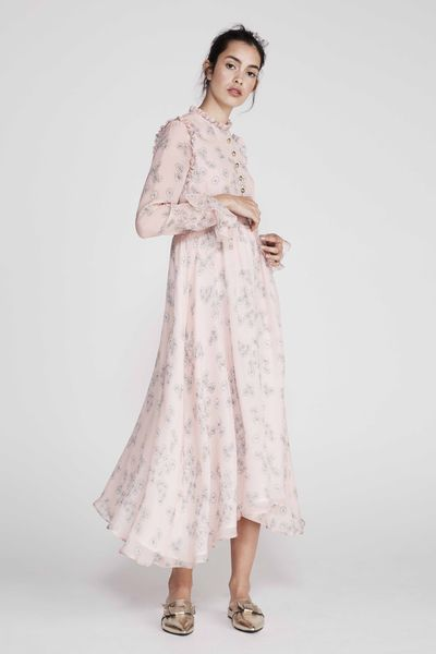 "<strong><a href=""http://www.macgraw.com.au/e-boutique/all/calendular-dress-in-pink-daisy#.WXgR24SGOUk"" target=""_blank"">Macgraw </a></strong>calendula dress, $795<br />"