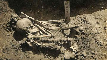 The man was excavated from the Tsukumo site near Japan's Seto Inland Sea.