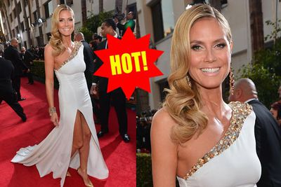 Heidi cannot put a foot wrong on the red carpet, and her latest off-the-shoulder number is a certified smash.
