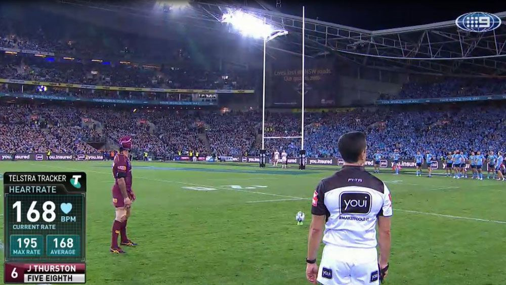 Queensland five-eighth Johnathan Thurston's heart-rate dropped for winning conversion in Origin II