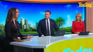 Boney addressed the debate on a panel with Today hosts Ally Langdon and Karl Stefanovic.