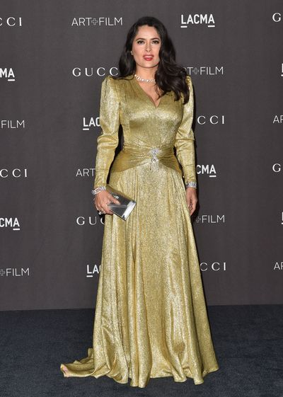Actress Salma Hayek at the 2018 LACMA Art + Film Gala in Los Angeles, November, 2018