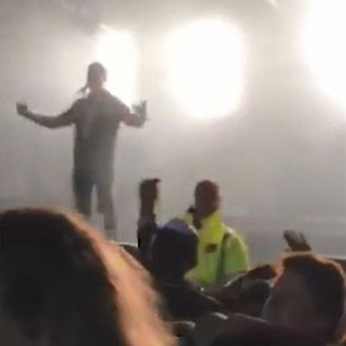 """Noll called the fan a """"cheap shot prick"""" after something was thrown at the stage. (Facebook)"""