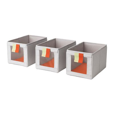 "<a href=""http://www.ikea.com/au/en/catalog/products/20327974/"" target=""_blank"" draggable=""false"">SLÄKTING box, $13.99 (Three pack).</a><br>"