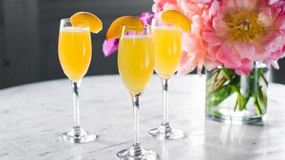Summer peach bellini