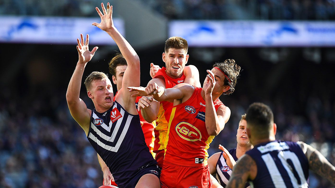 'A tough watch': Fremantle prevails in error-riddled contest against Gold Coast Suns