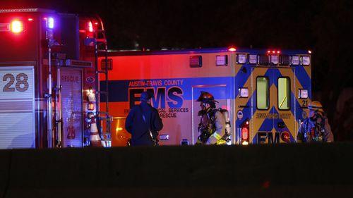 Emergency responders at the scene. (AP/AAP)