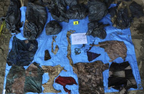 As well as skeletal remains, clothing personal possessions and ID cards have also been found.