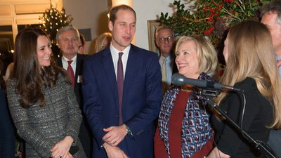 William and Kate with former US secretary of state Hillary Clinton and daughter Chelsea during a reception co-hosted by the Royal Foundation and the Clinton Foundation. (AAP)