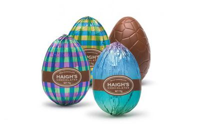 Haigh's Milk Chocolate Eggs 75g, $8.75