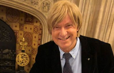 Mr Fabricant and his long locks.