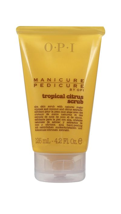 <p>The fruit-derived alpha hydroxy acid in this foot scrub works to dissolve dead skin.</p>