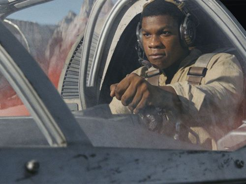 Jon Boyega reprises his role as Finn in The Last Jedi.