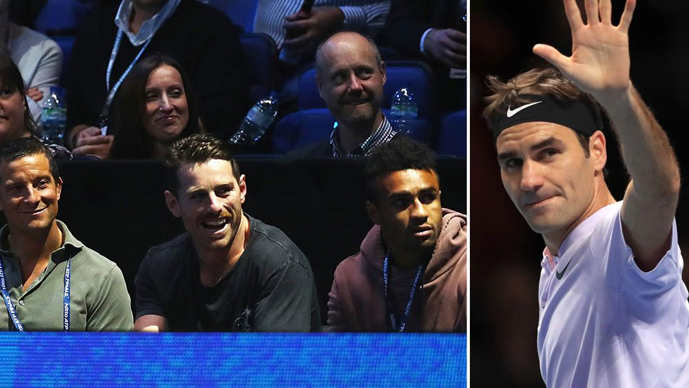 ATP Tour Finals: Roger Federer defeats Marin Cilic with Wallabies halves watching on