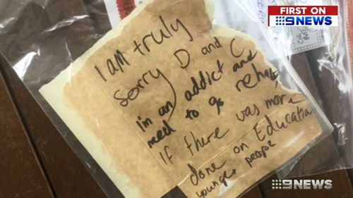 A thief wrote an apology note after they broke into a Queensland home.