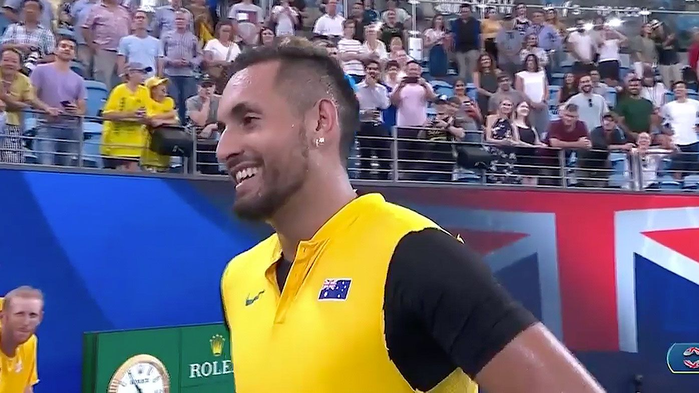Nick Kyrgios dishes out cheeky sledge to Great Britain