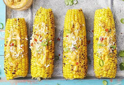 "Recipe: <a href=""https://kitchen.nine.com.au/2016/05/05/14/34/mexican-barbecue-corn-cobs"" target=""_top"">Mexican barbecue corn cobs</a>"