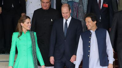 The Duchess of Cambridge and Prince William after meeting Pakistan's Prime Minister Imran Khan