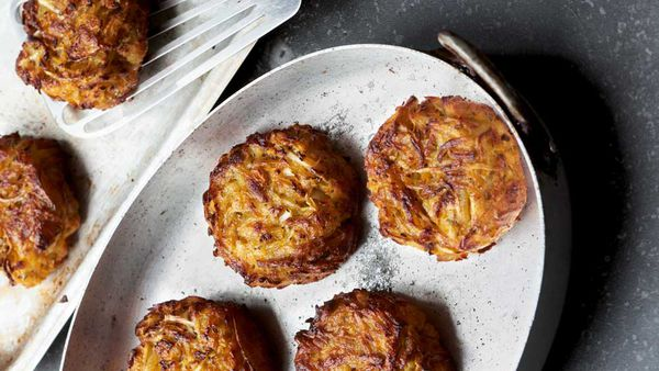 Sweet potato and rosemary hash-rösti