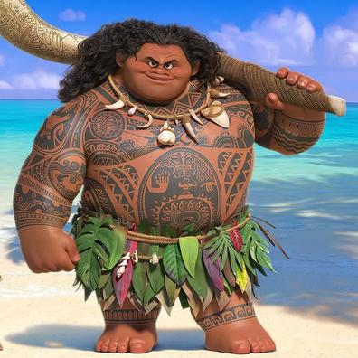 "Dwyane ""The Rock"" Johnson plays a rapping, singing demi-god Maui in Disney's Moana."