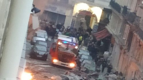 Emergency services are on the scene in central Paris following an explosion