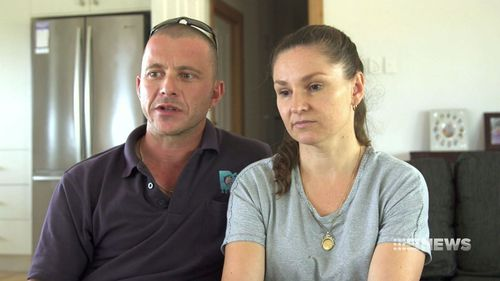 The toddler's proud parents, Con and Annie Karaberidis. (9NEWS)