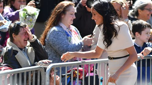 Royal watchers were overwhelmed to meet Meghan. Picture: Getty
