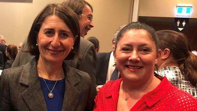 With NSW Premier Gladys Berejiklian.