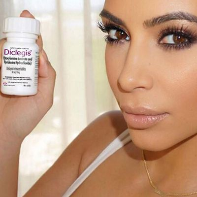 "<p>Kim Kardashian spruiks prescription morning sickness pills...then deleted it after US regulators called it ""misleading"".</p>"