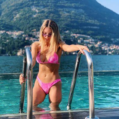 Kaitlynn Carter, bikini, vacation, boat