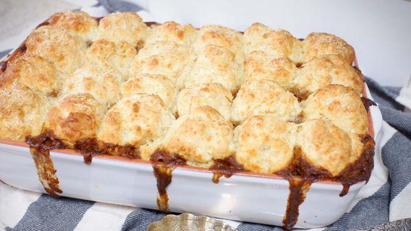 Jane de Graaff beef dumpling stroganoff bake