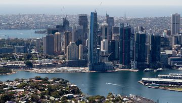 The NSW government is launching more $100 vouchers to lure office workers back into the CBD. Sydney CBD skyline city generic stock file