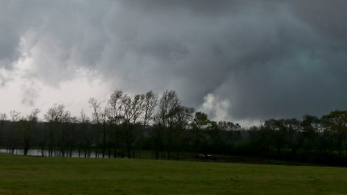 A tornado touches down near Moundville in Hale County Alabama on March 17, 2021. (AP Photo/Gary Cosby Jr./Tuscaloosa News)