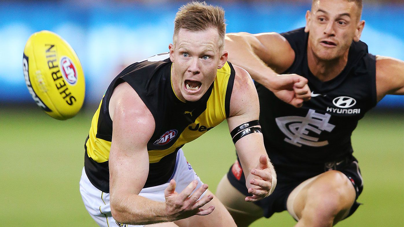 'It's not a great look': Jack Riewoldt hits back at Carlton defender Liam Jones for off-ball bump
