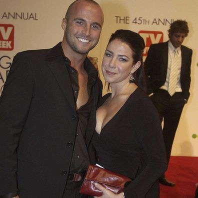 Ben Unwin with Kate Richie at the 45th Annual TV Week Logie Awards in 2003