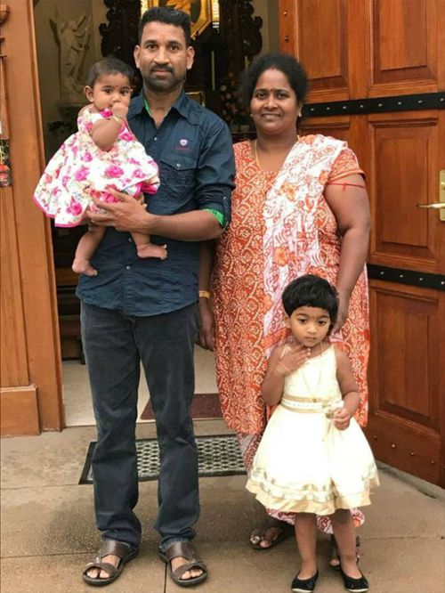 The family's home was raided at 5am and they were given 10 minutes to pack their belongings. (Image: Facebook/Tamil Refugee Council)