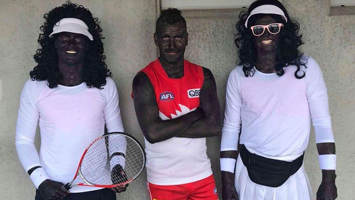 Amateur footballers slammed for Mad Monday blackface
