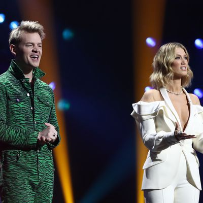 Joel Creasey and Delta Goodrem