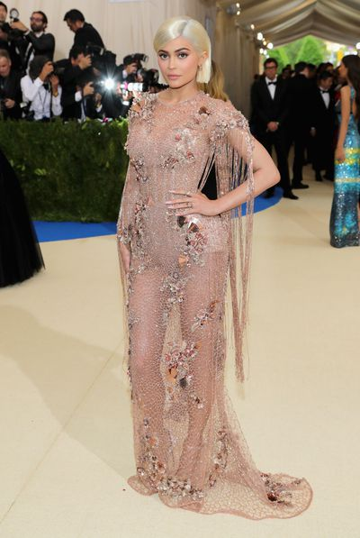 Kylie Jenner in Versace at the Rei Kawakubo/Comme des Garcons: Art Of The In-Between Costume Institute Gala at Metropolitan Museum of Art in New York, May, 2017