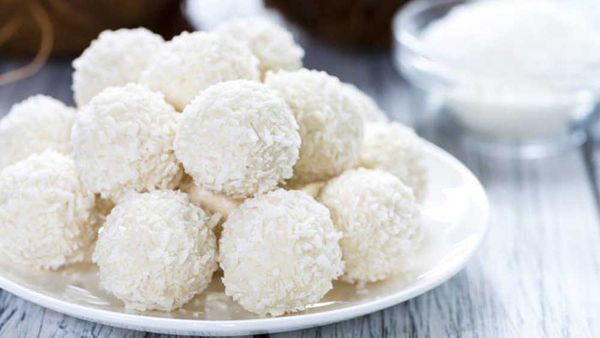 F45 Vanilla hemp seed protein balls afternoon snack recipe