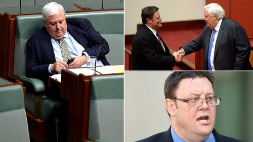 Clive Palmer's one-word text in response to Glenn Lazarus' shock resignation