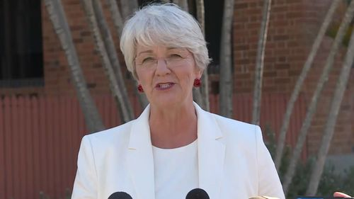 Mayor Margaret Strelow took responsibility for the blunder. Picture: 9NEWS